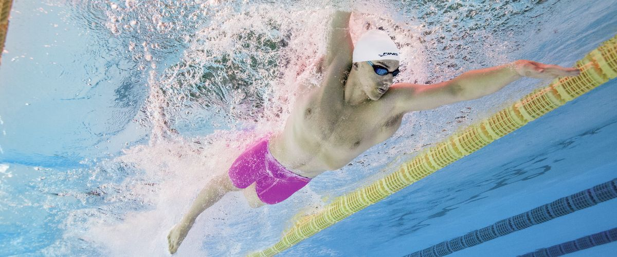James Guy in FINIS Fuse Hot Pink