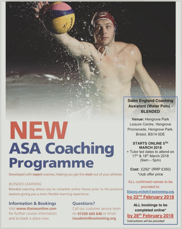 Water Polo Assistant (Coaching) course