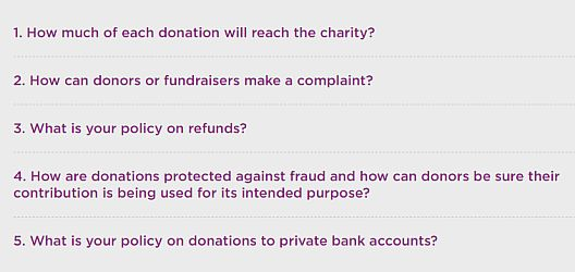 Transparency for online fundraising platforms