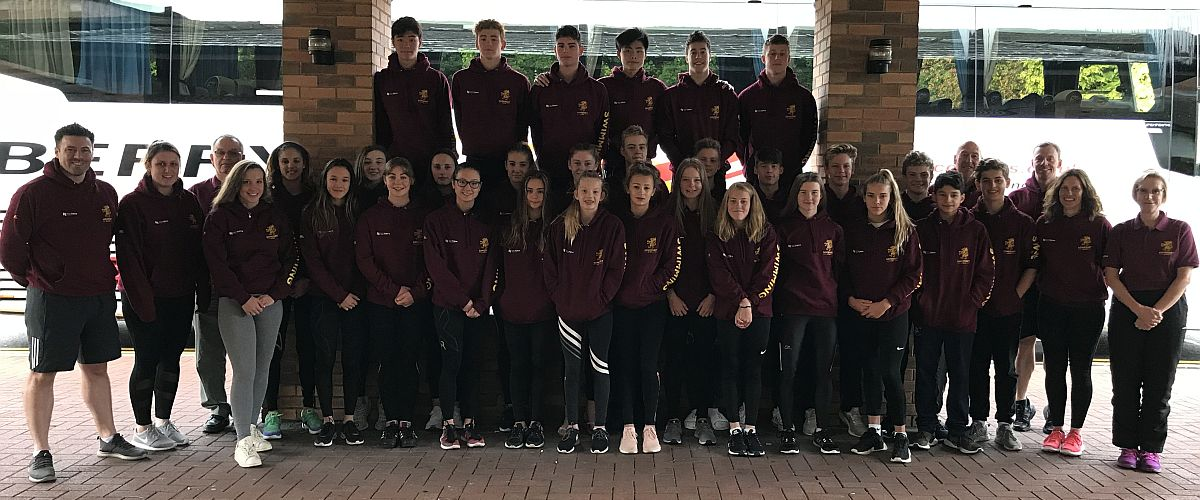 Swimming team representing Somerset in 2018
