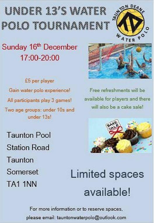 Somerset asa water polo Taunton swimming pool station road