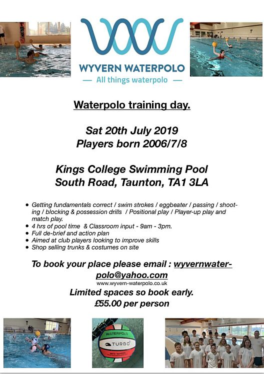 Wyvern Waterpolo Training Day 20 Jul